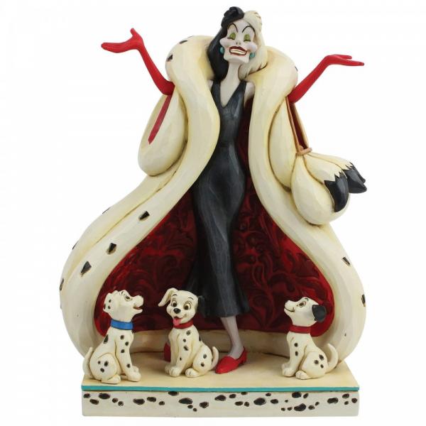 Disney Traditions The Cute and the Cruel (Cruella and Puppies Figurine)