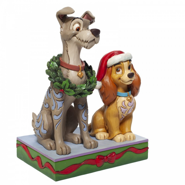 Disney Traditions Decked out Dogs (Lady and the Tramp Figurine)