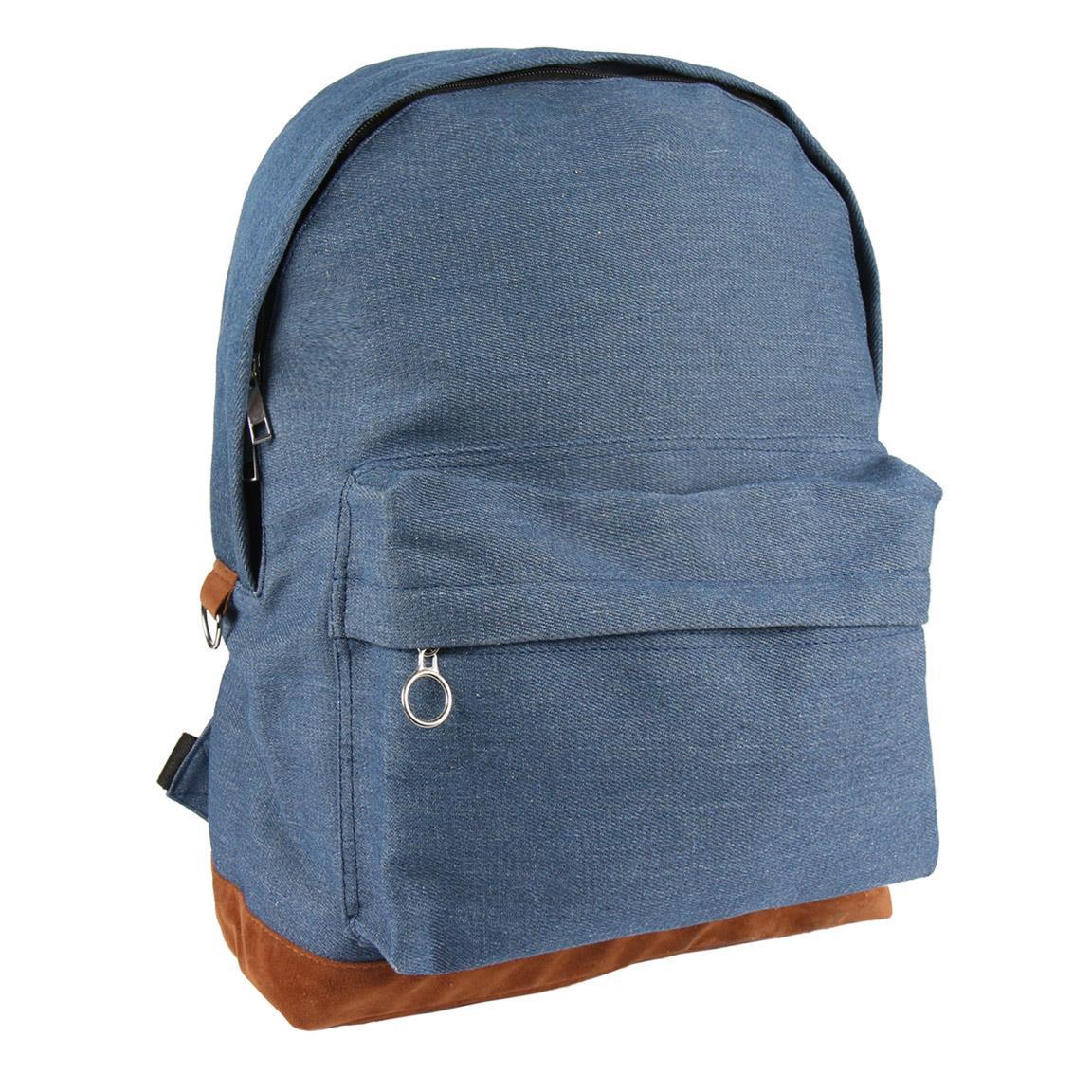 Plain Denim Backpack - 2100002921