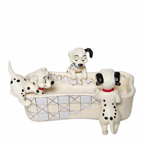 Disney Traditions Puppy Bowl - 101 Dalmatians Bone Shaped Dish - 6008060