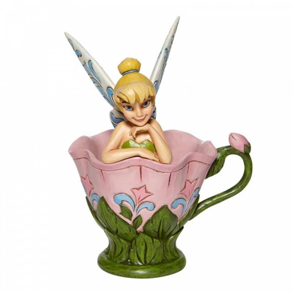 Disney Traditions A Spot of Tink - Tinkerbell Sitting in a Flower Figurine