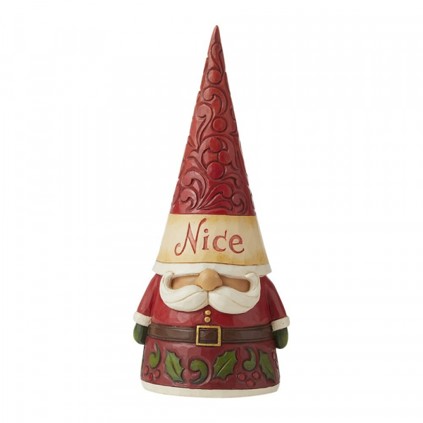 Jim Shore Heartwood Creek Naughty / Nice Two Sided Gnome Figurine - 6009185