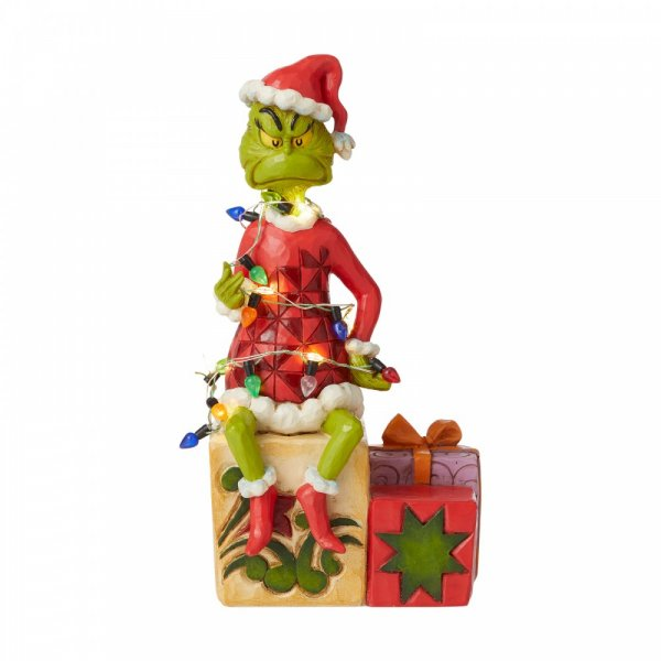 Grinch with lights Figurine - The Grinch by Jim Shore