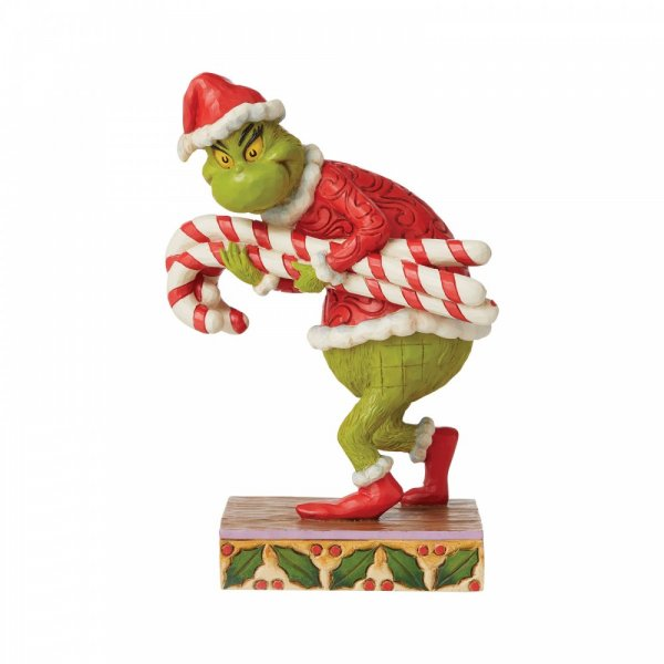 Jim Shore Grinch Stealing Candy Canes Figurine