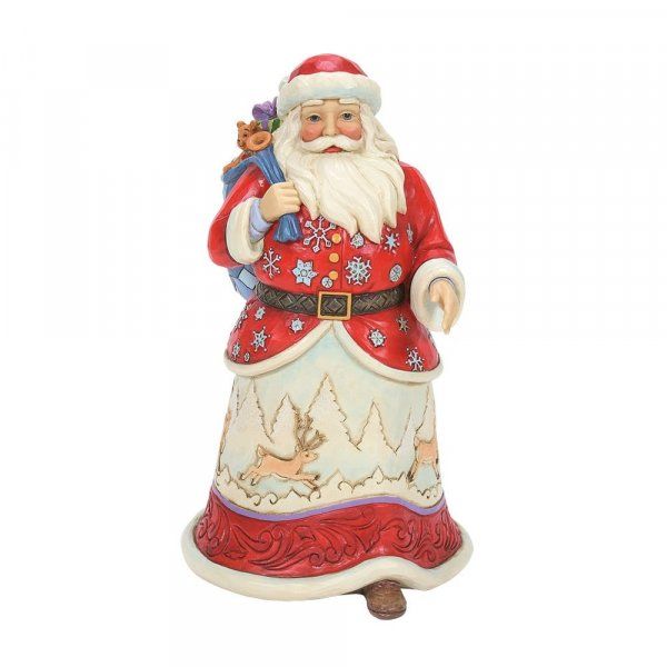 Jim Shore Heartwood Creek Walking Santa with Winter Scene Figurine