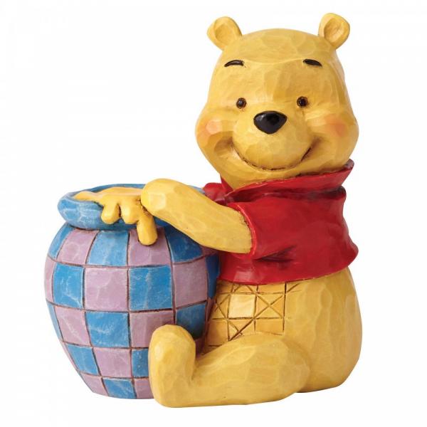 Disney Traditions Winnie the Pooh with Honey Pot Mini Figurine