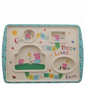 2 x Peppa Pig Bamboo Game Plate - A29657
