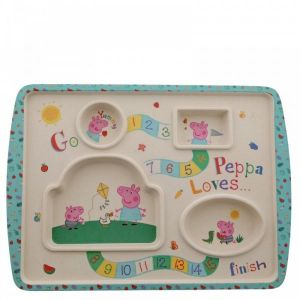 (GIFT WITH PURCHASE) Peppa Pig Bamboo Game Plate - A29657 - Minimum Spend £10