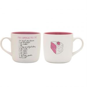 About Face Designs Pink Champagne Cake Mug - 187691