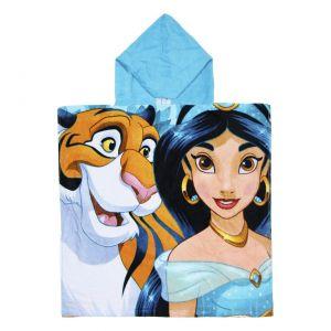 2 x Princess Jasmine Cotton Poncho Hooded Towel