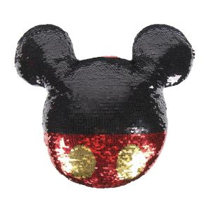 2 x Disney Mickey Mouse Sequin Cushion