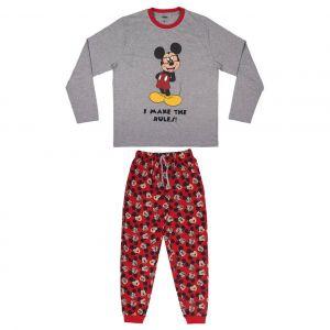 Disney Mickey Mouse Adults Long Single Jersey Pyjamas