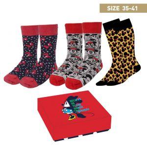 3 Pack Minnie Adult Socks Size 4/7 - 2200006897