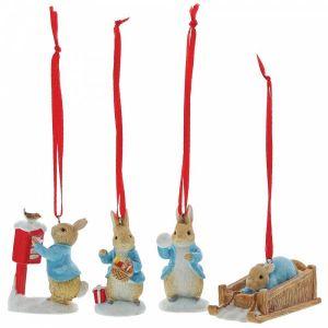 Beatrix Potter Peter Rabbit Set of 4 Hanging Ornaments