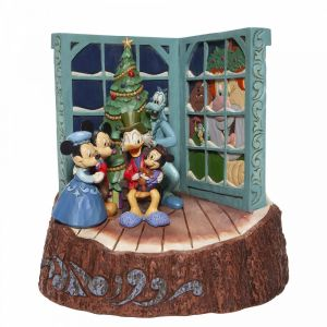 Disney Traditions Carved by Heart Mickey Mouse Christmas Carol Figurine