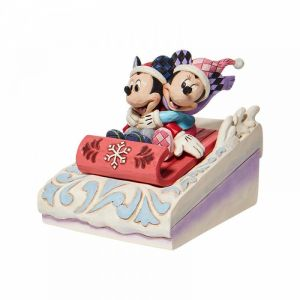 Disney Traditions Mickey and Minnie Sledding - 6008972
