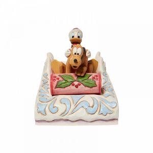 Disney Traditions Donald and Pluto Sledding - 6008973