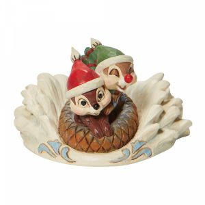Disney Traditions Chip n' Dale Sledding on Saucer - 6008975