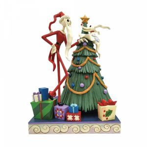 Disney Traditions Santa Jack with Zero by Tree - 6008991