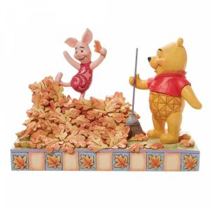 Disney Traditions Piglet Playing in a Pile of Leaves that Pooh Just Raked - 6008990