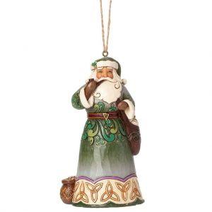 Heartwood Creek Irish Santa Hanging Ornament - 4041111