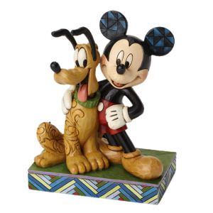 Jim Shore Disney Traditions Best Pals (Mickey and Pluto Figurine)