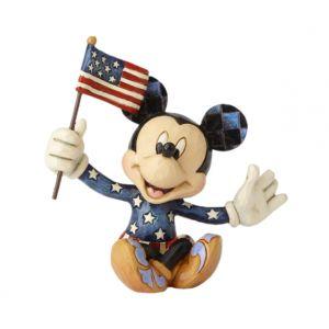 Jim Shore Disney Traditions Mickey Patriotic (Mickey Mini Figurine)