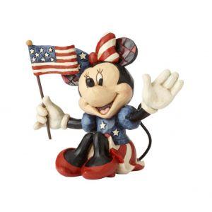 Jim Shore Disney Traditions Minnie Patriotic (Minnie Mini Figurine)