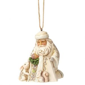 Heartwood Creek Santa with Baby Jesus Hanging Ornament - 4058743