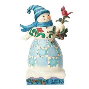 Heartwood Creek Winter Wonderland Snowman Cardinal - 4058745