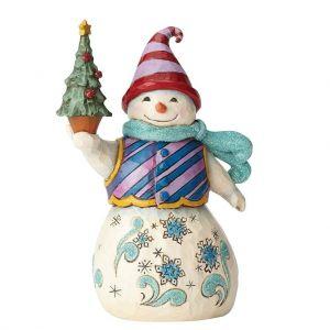 Heartwood Creek Winter Wonderland Snowman with Tree - 4058748
