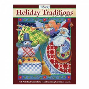 Jim Shore Holiday Traditions Colouring Book