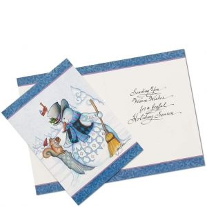 Snowman Christmas Cards by Jim Shore (Set of 10) - 6002245