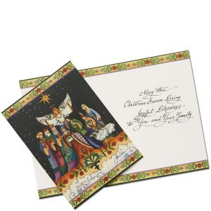Nativity Christmas Cards By Jim Shore (Set of 10) - 6002246