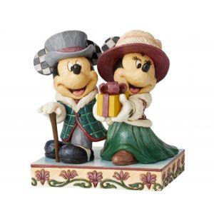 Jim Shore Disney Traditions Elegant Excursion (Mickey and Minnie Figurine)