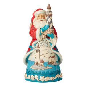 Heartwood Creek Coastal Santa with Lighthouse Figurine - 6004023
