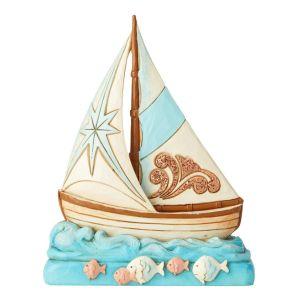 Heartwood Creek Coastal Boat Figurine - 6004025