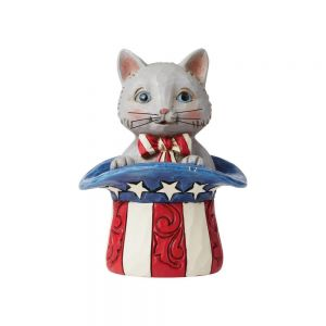 Jim Shore Heartwood Creek MIni Patriotic Kitten - 6006443