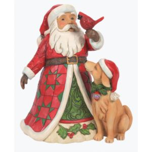 Heartwood Creek Christmas is for One and All (Santa with Dog and Cardinal) - 6008363
