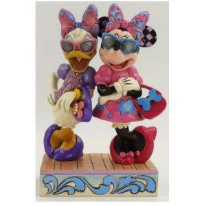 Jim Shore Disney Traditions Fashionista Minnie and Daisy Figurine