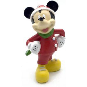 Disney Figurine Mickey Mouse In Santa Suit Christmas Decoration 12cm