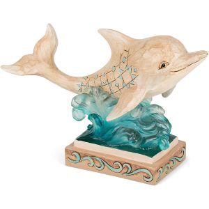 Jim Shore Heartwood Creek Pint Sized Dolphin Figurine - 6006690