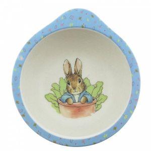 2 x Beatrix Potter Peter Rabbit Bamboo Bowl