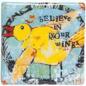 Believe In Your Wings Plaque