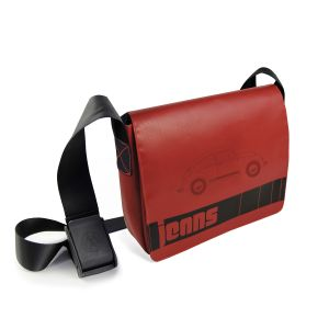 Brisa VW Beetles Jean Messenger Red Bag BETP01