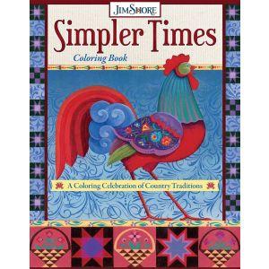 Jim Shore Simpler Times Colouring Book - DO6012
