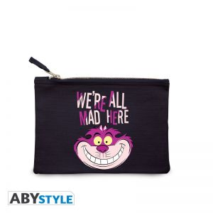 """DISNEY - Cosmetic Case - """"We're all mad here"""" - Blue - ABYBAG312"""