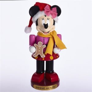 "10"" Minnie With Gingerbread Doll Nutcracker"