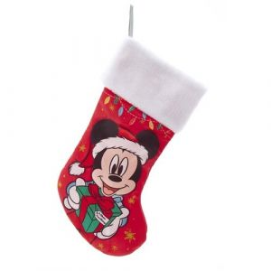 """19"""" Mickey With Present Stocking"""