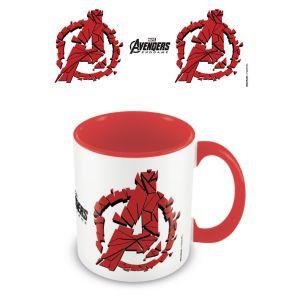 Avengers: Endgame (Shattered Logo) Red  Coloured Inner Mug - MGC25490